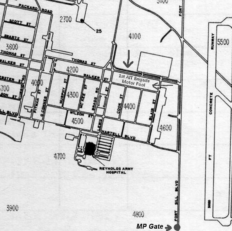 map2 Map Of Fort Sill Building on